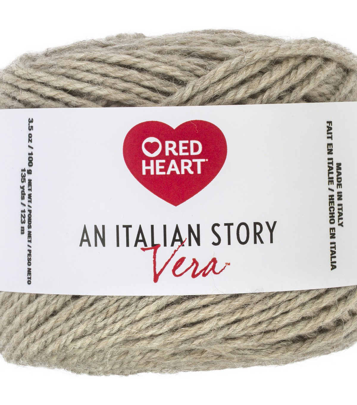 Red Heart An Italian Story Vera Yarn, Latte