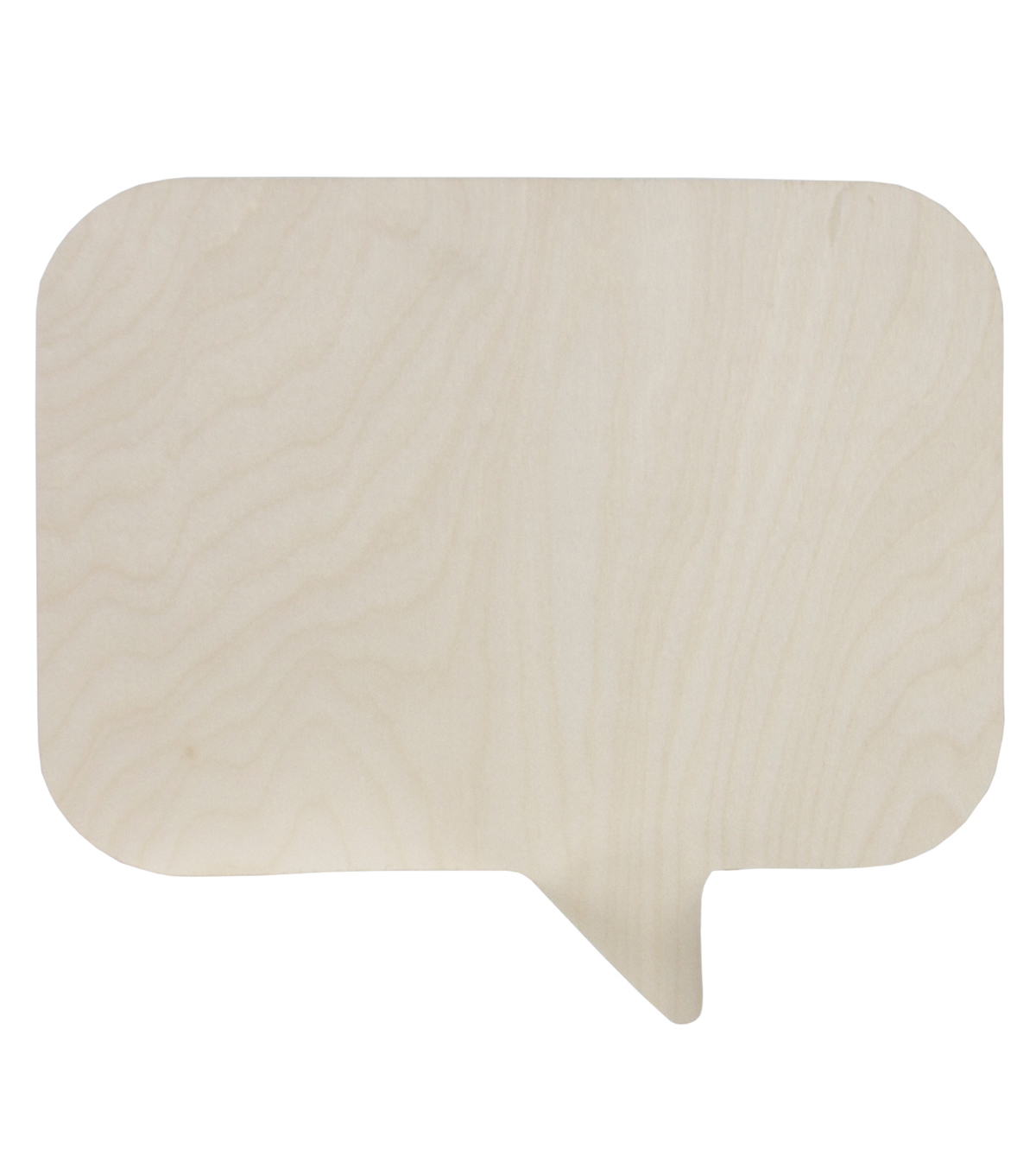 Unfinished Wood Surface Speech Bubble-Rectangle