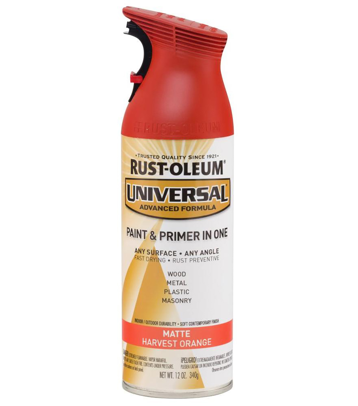 Rust-Oleum Universal 12 oz. Matte Paint & Primer in One-Harvest Orange