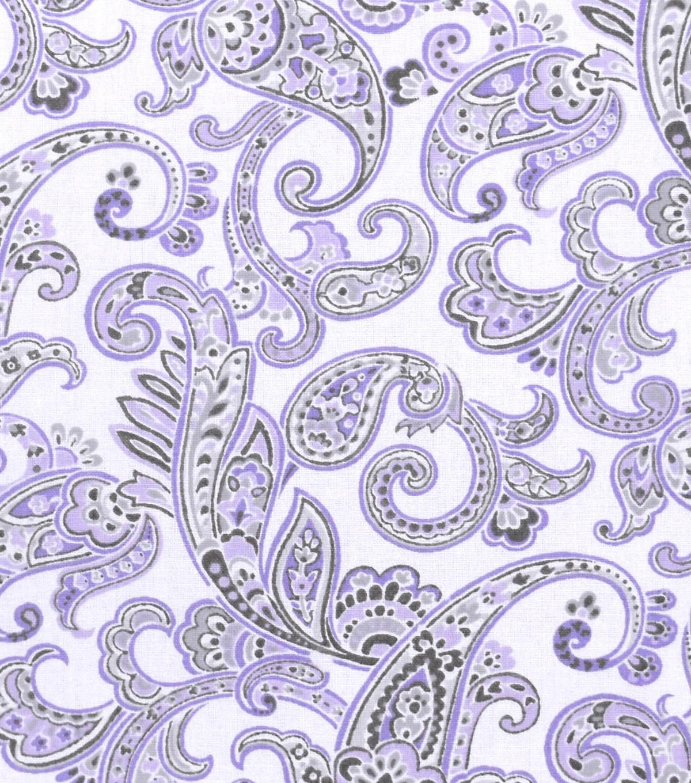 nursery cotton fabric 43 lilac paisley joann