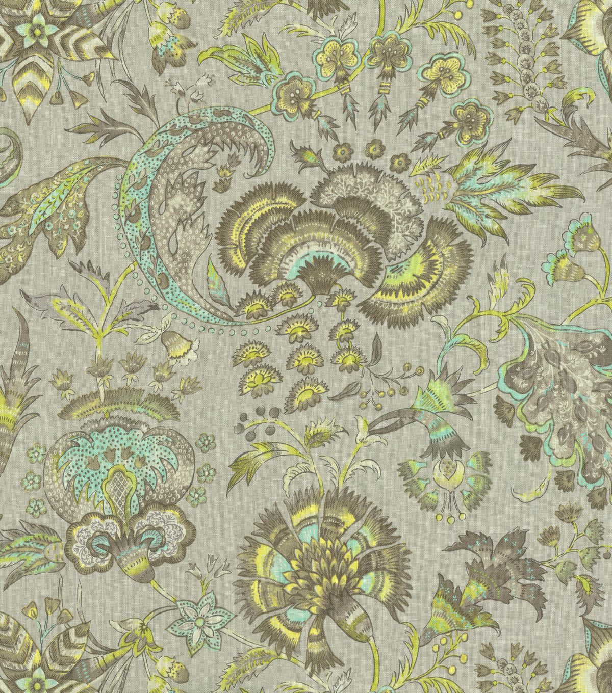 Williamsburg Upholstery Fabric-Grand Palampore/Shade