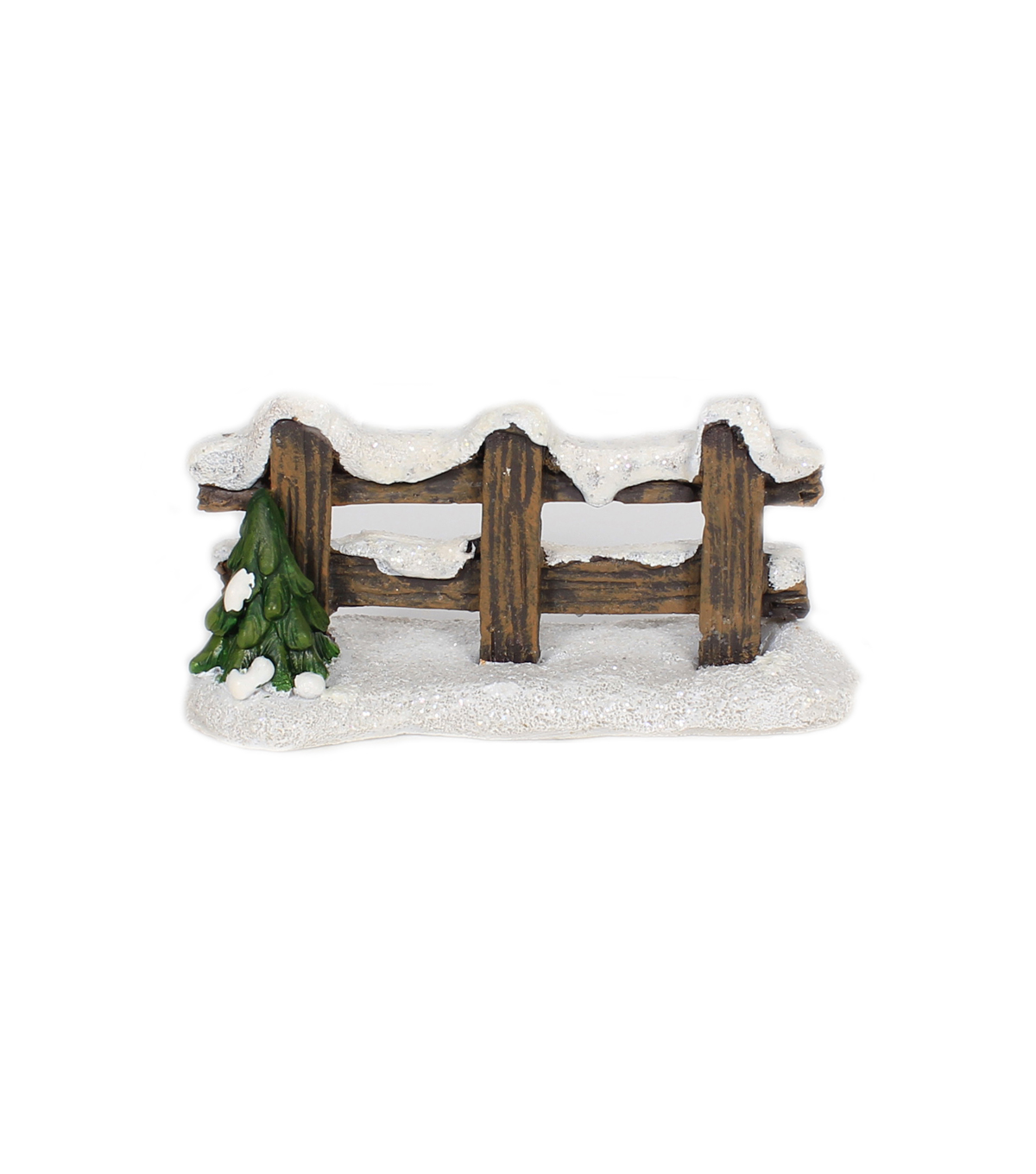 Maker\u0027s Holiday Christmas Littles Wood Fence with Tree