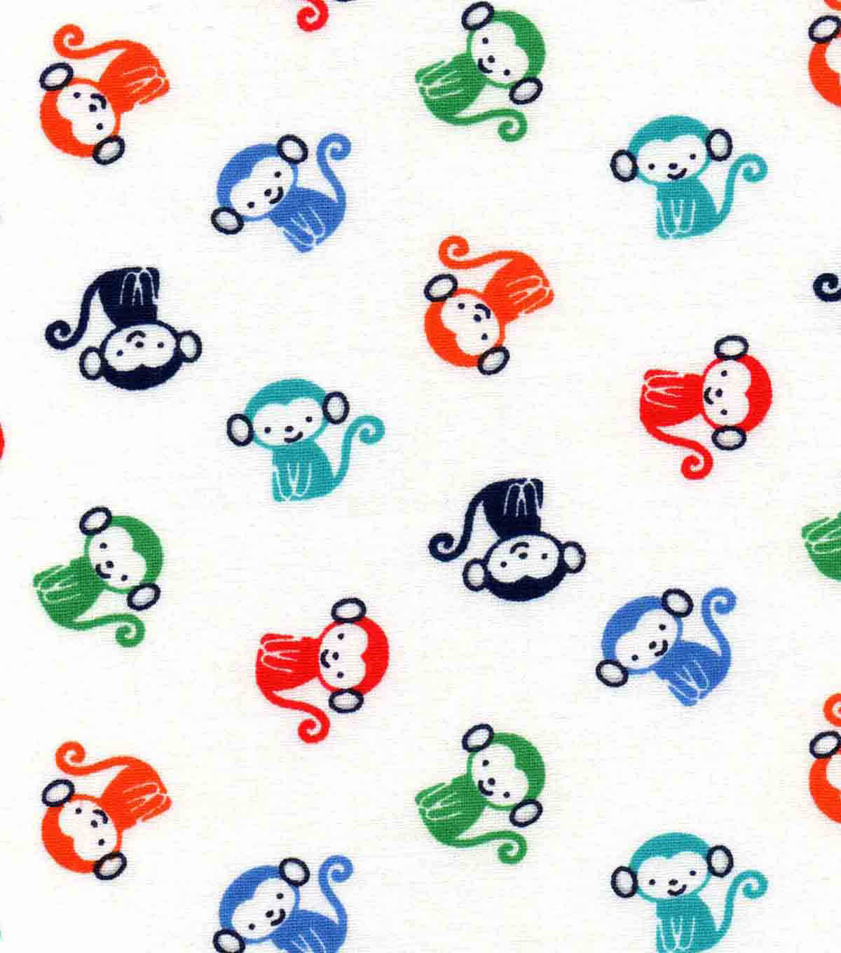 Nursery Cotton Fabric -All Over Monkey