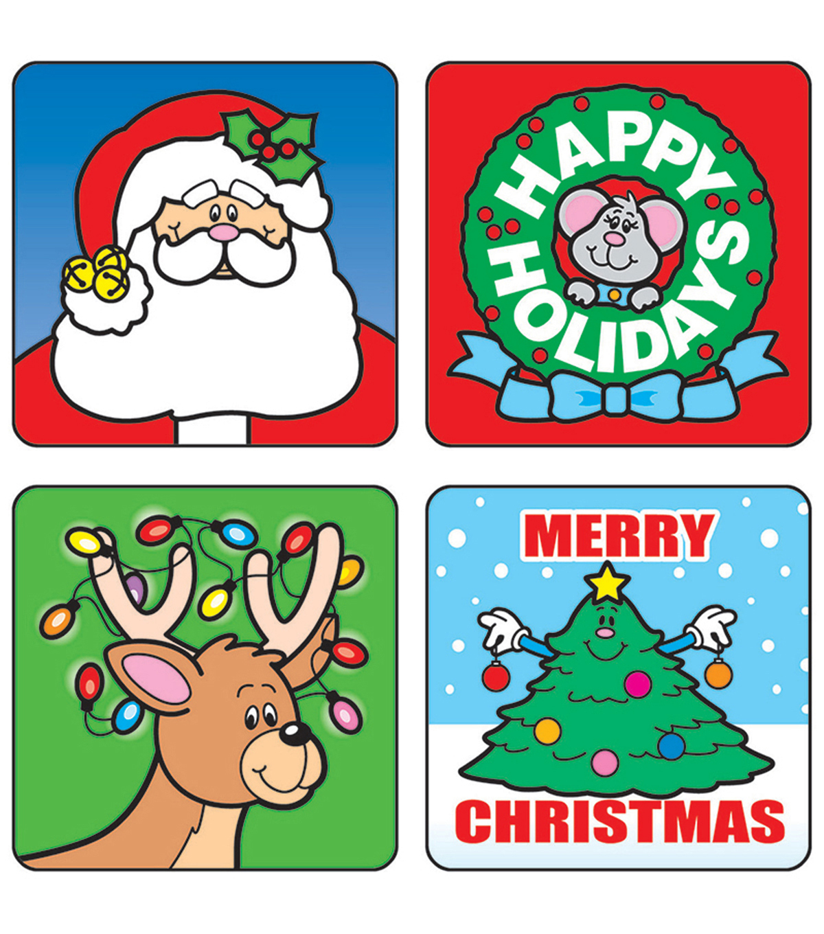Carson Dellosa Christmas Motivational Stickers, 120 Per Pack, 12 Packs