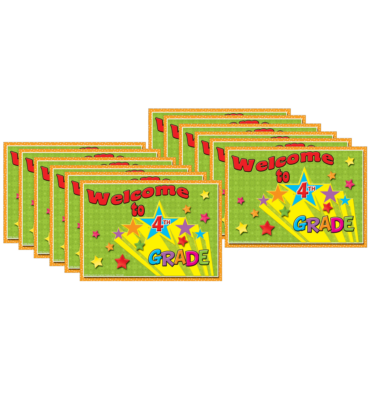 Welcome to 4th Grade Postcards, 30 Per Pack, 12 Packs