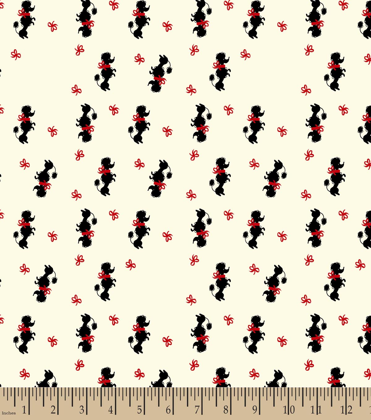 Poodle Print Fabric