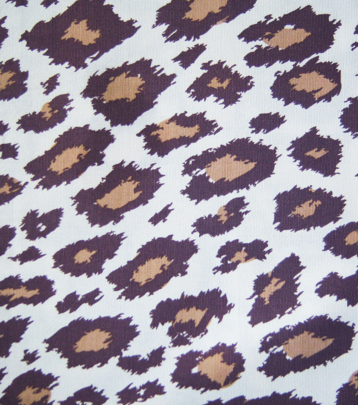 Novelty Cotton Fabric -Cheetah Brown