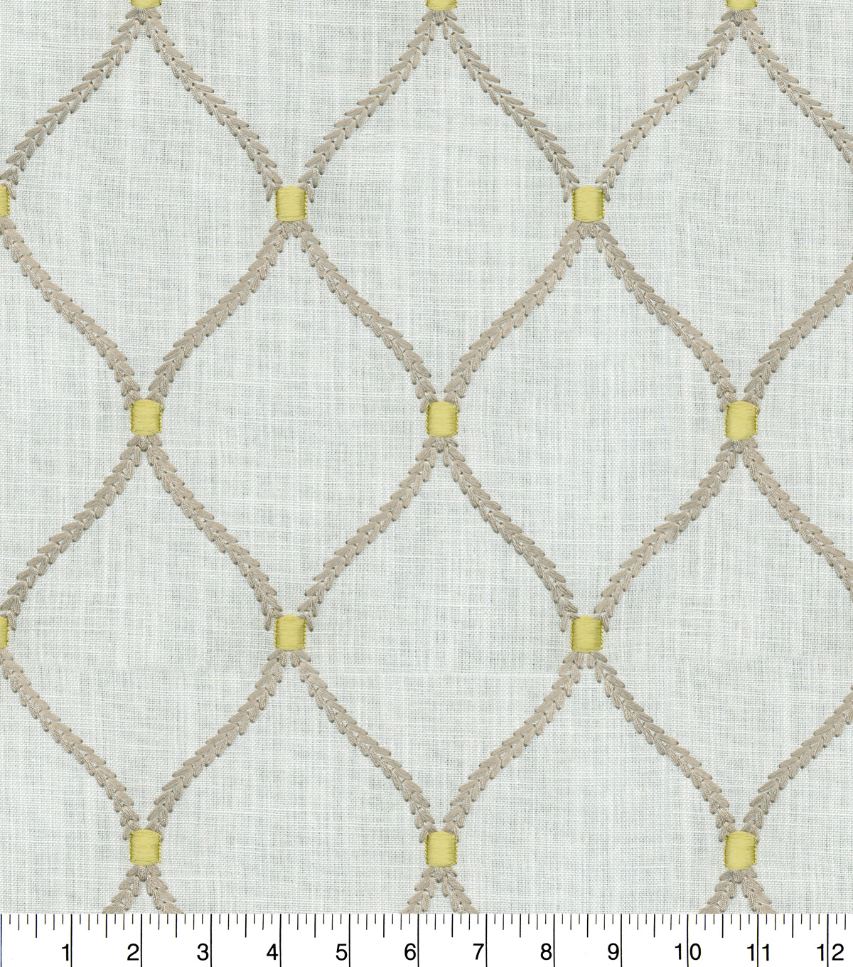 Williamsburg Multi-Purpose Decor Fabric 54\u0027\u0027-Smoke Deane Embroidery