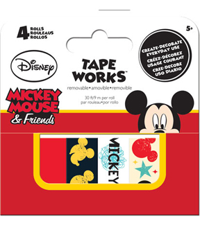 Mickey 4pk Tape Box