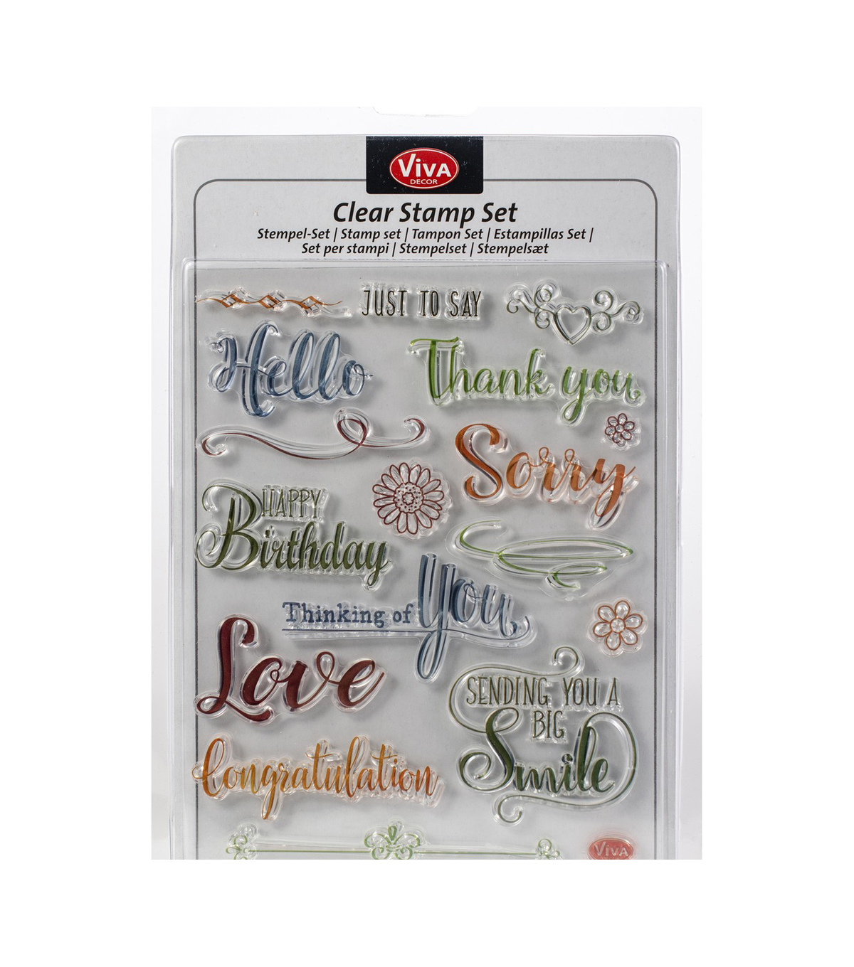 Viva Decor 17 pk Clear Stamps-Just to Say