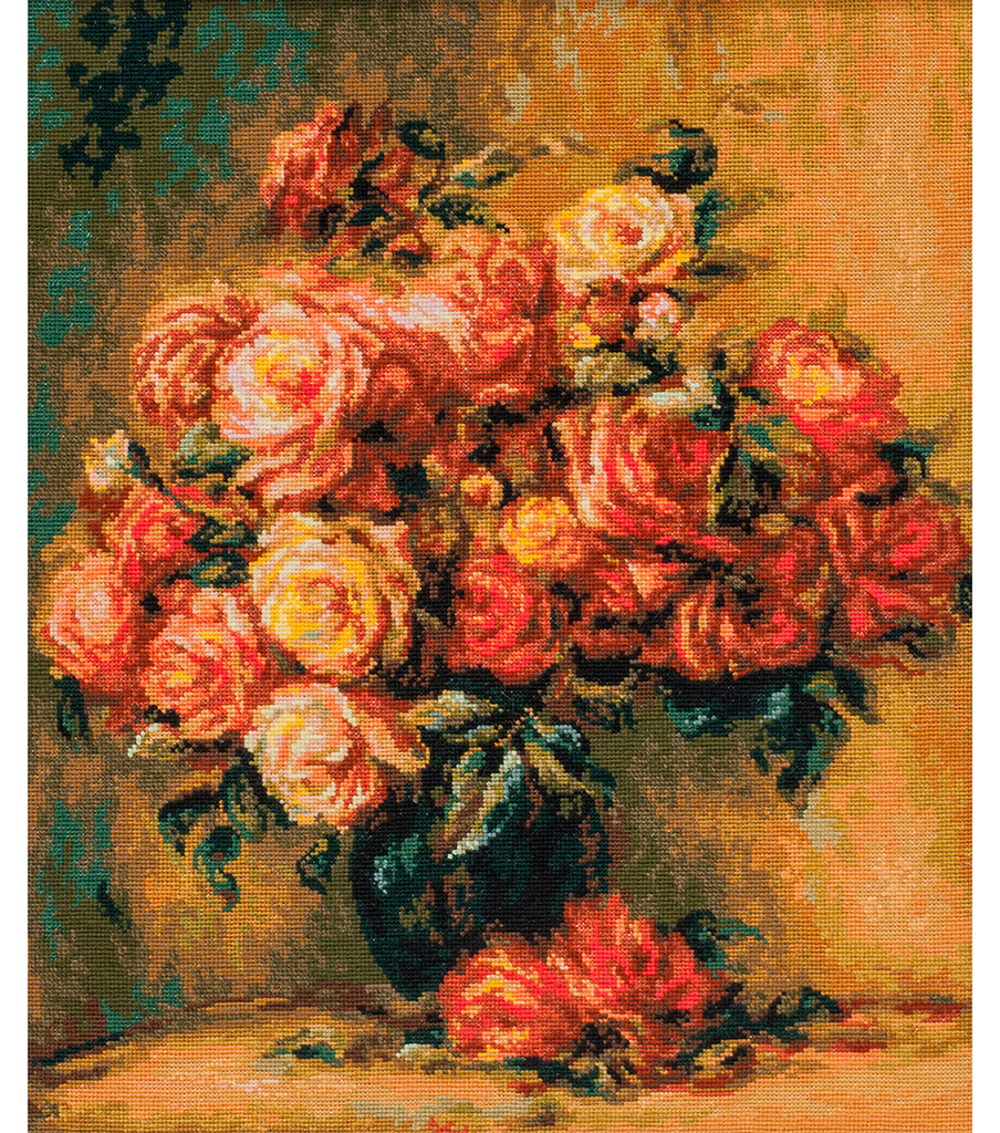 Riolis Create it Yourself Counted Cross Stitch-Bouquet of Roses