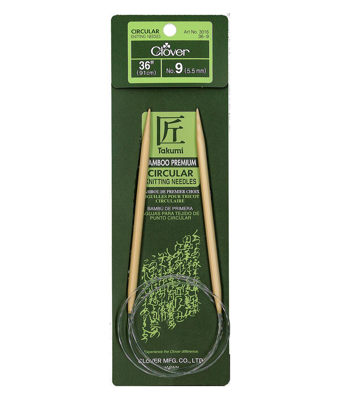 Clover Needlecraft Takumi No-9 Bamboo Interchangeable Circular Knitting Needles