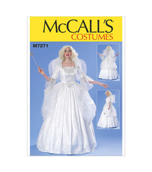 McCall\u0027s Pattern M7271-Boned Top, Full Skirt, Wings and Collar
