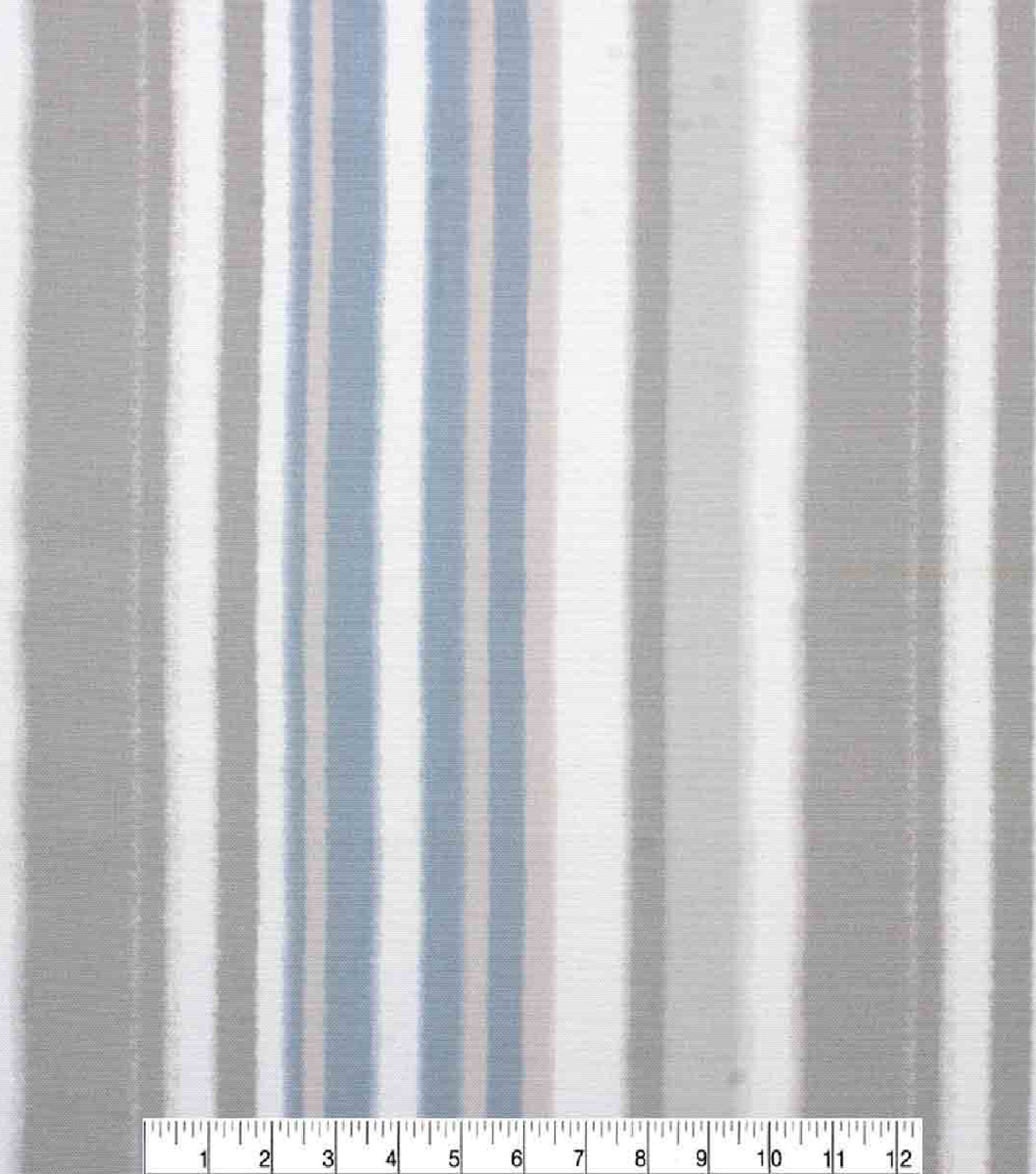 Oudoor Canvas Fabric-Airbrushed Multi Stripe Grey