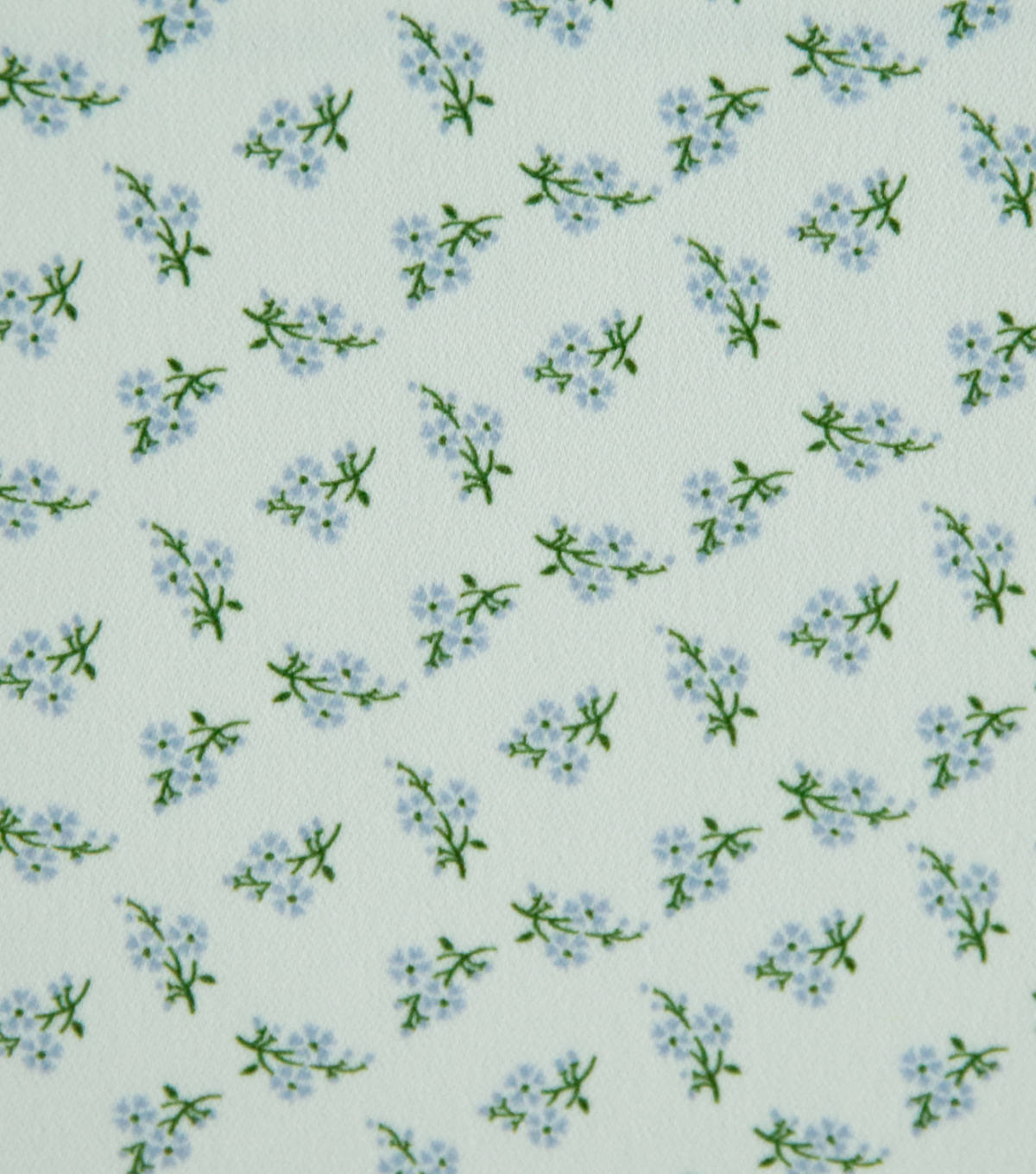 Silky Stretch Crepe Fabric 57\u0022-Blue Ditsy Floral