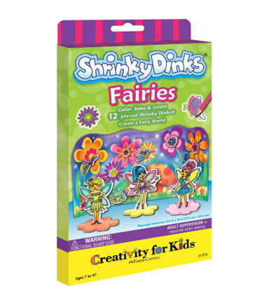 Creativity for Kids Shrinky Dinks Fairies Mini Kit