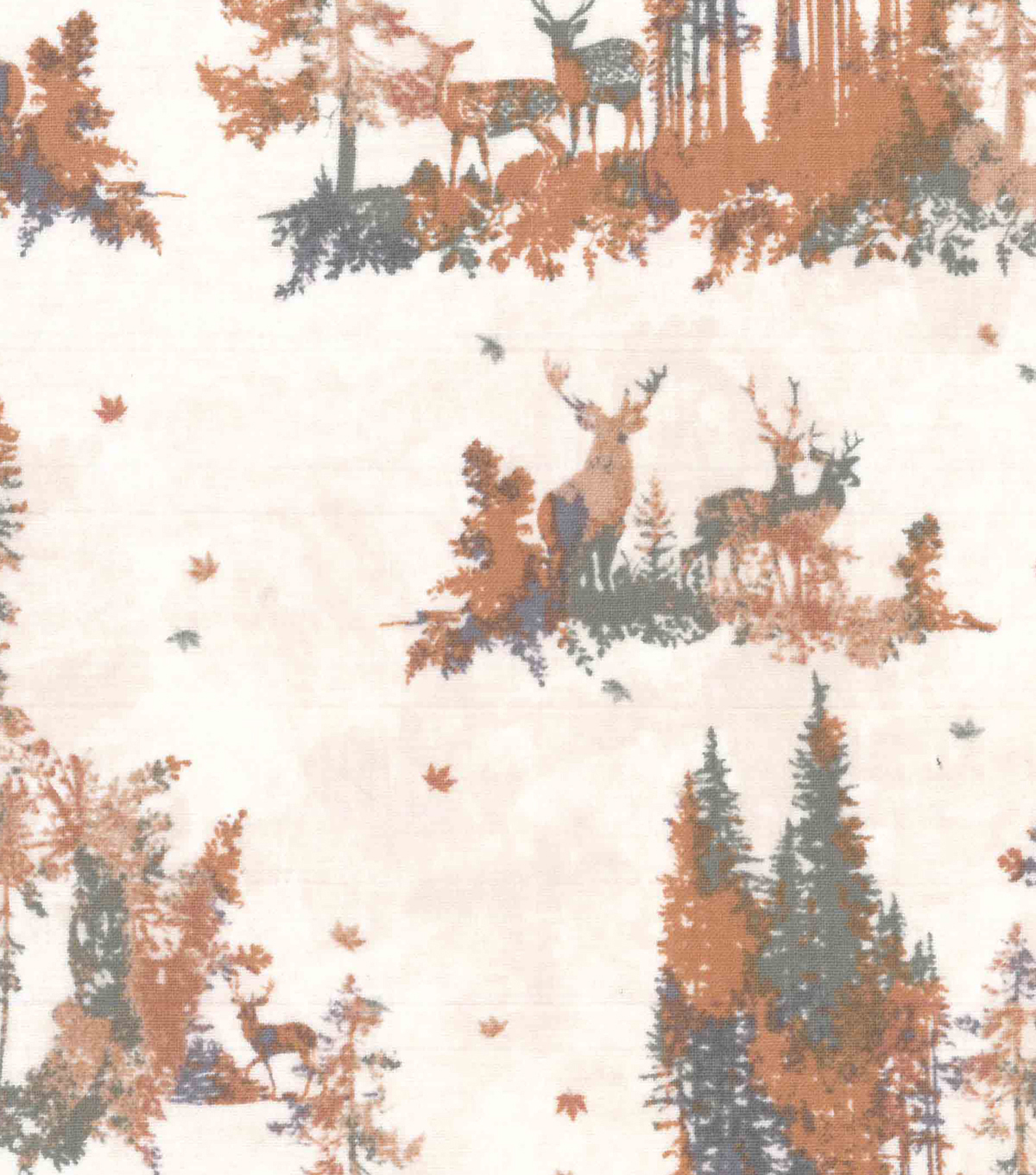 Harvest Cotton Fabric-Stags in the Forest