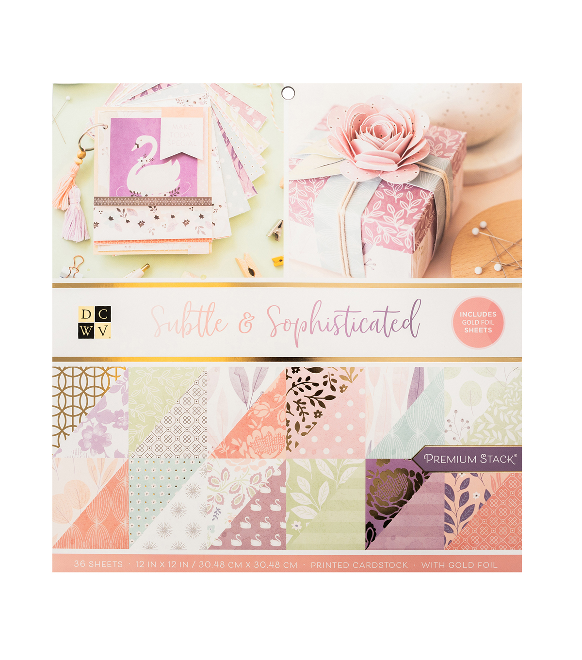 Die Cuts with a View Subtle & Sophisticated Premium Cardstock Stack