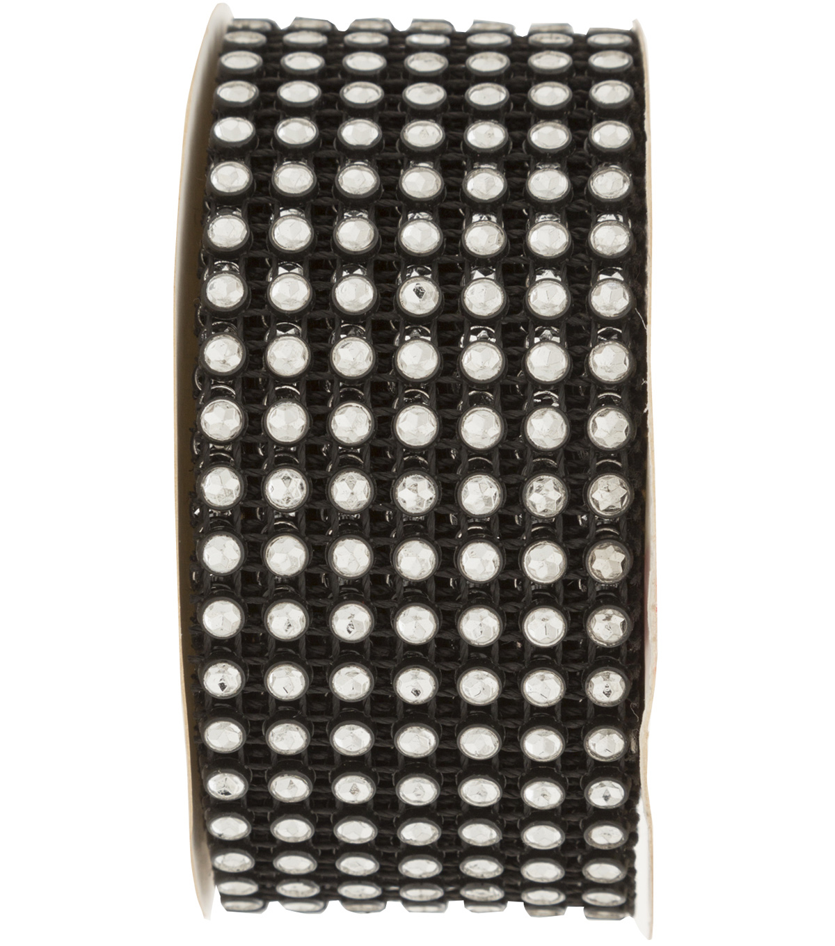 7 Row Rhinestone Band 3 Yard-Black