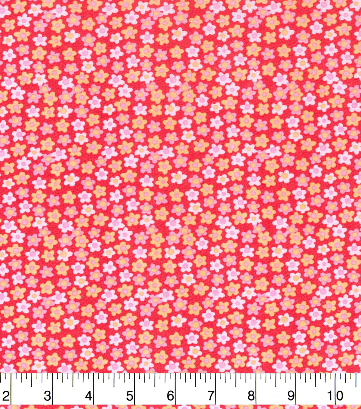 Keepsake Calico Cotton Fabric 43\u0022-Tiny Floral on Red