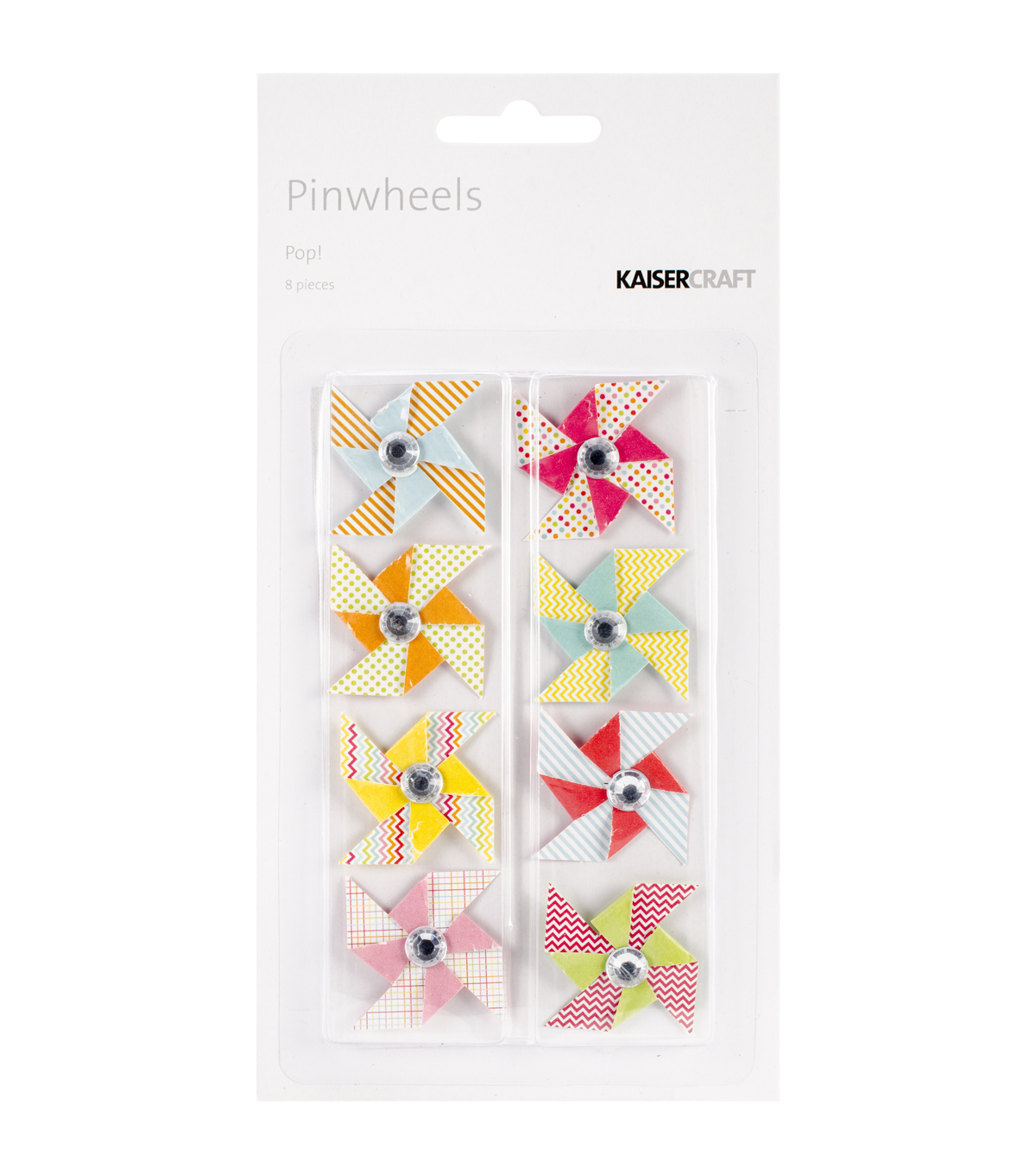 Kaisercraft-Pop! Mini Pinwheels 8/Pkg