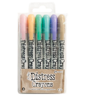 Tim Holtz Distress 6 Pack Crayon Set #5