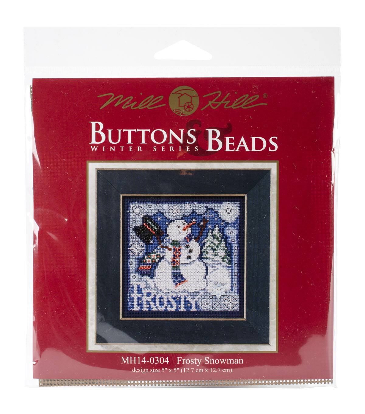 Mill Hill Buttons & Beads Counted Cross Stitch Kit-Frosty Snowman