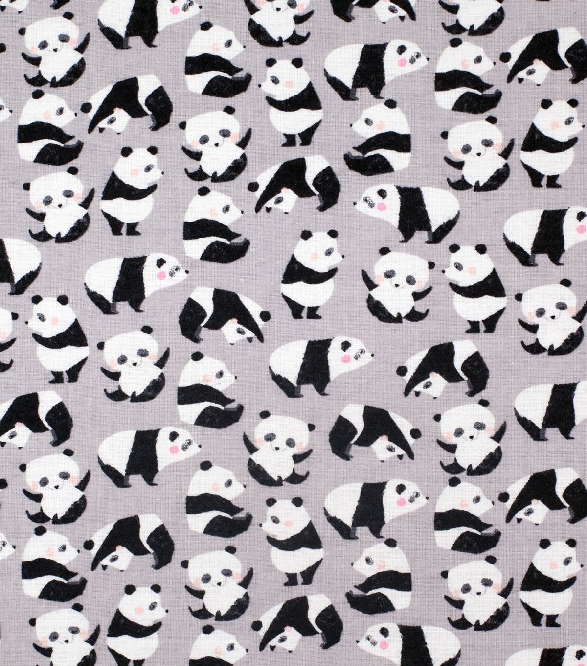 Super Snuggle Flannel Fabric-Sketched Rolling Pandas