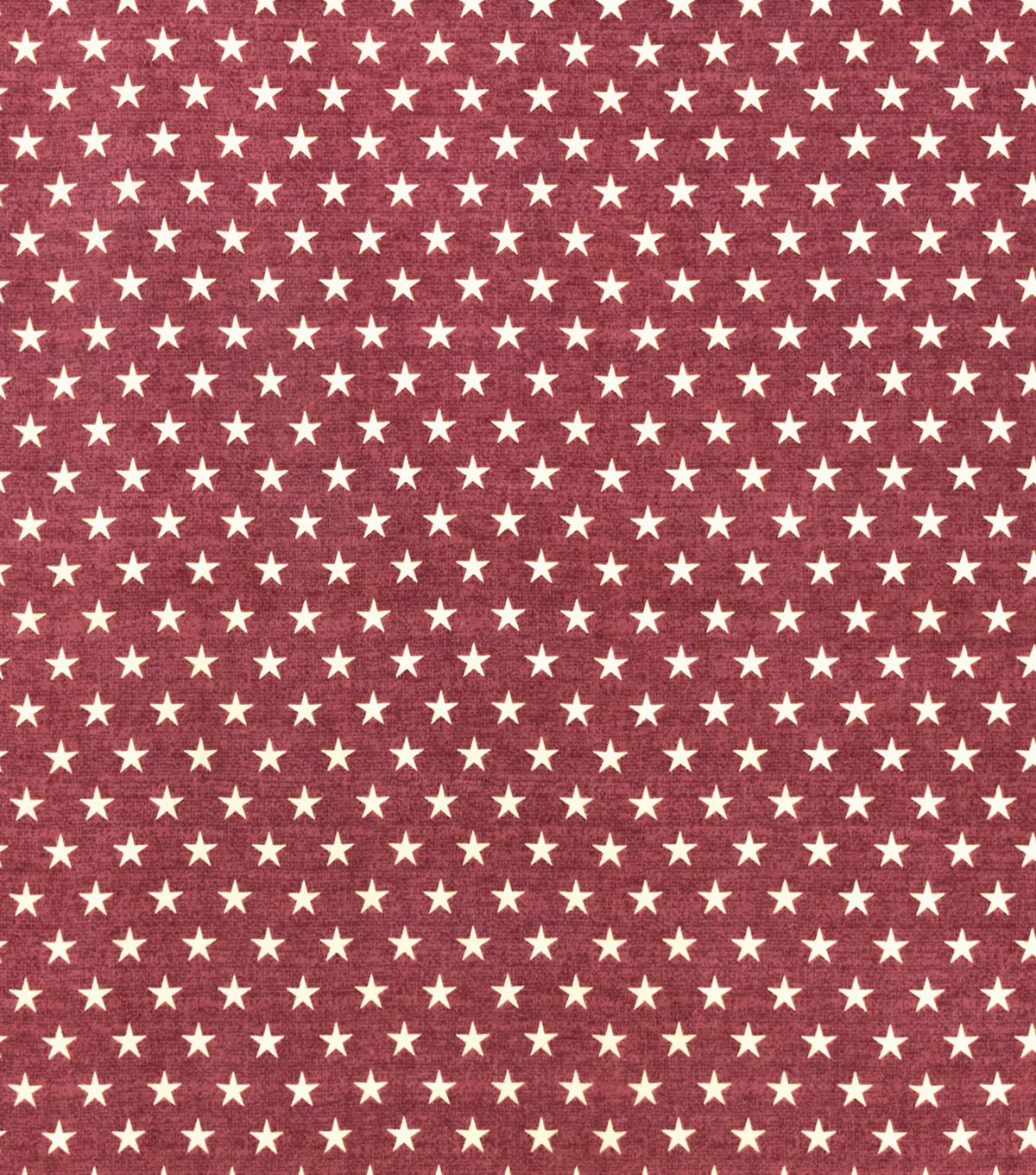 Snuggle Flannel Fabric-White Stars On Red