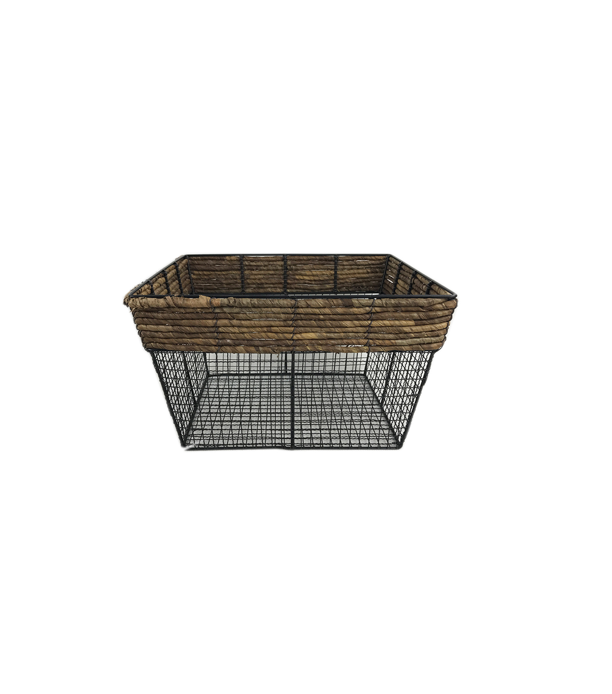 Medium Sqaure Basket with Metal Wire