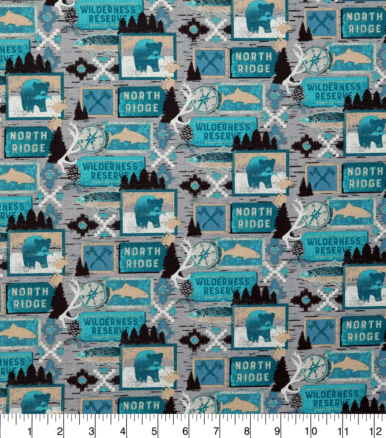 Novelty Cotton Fabric-Wilderness Reserve