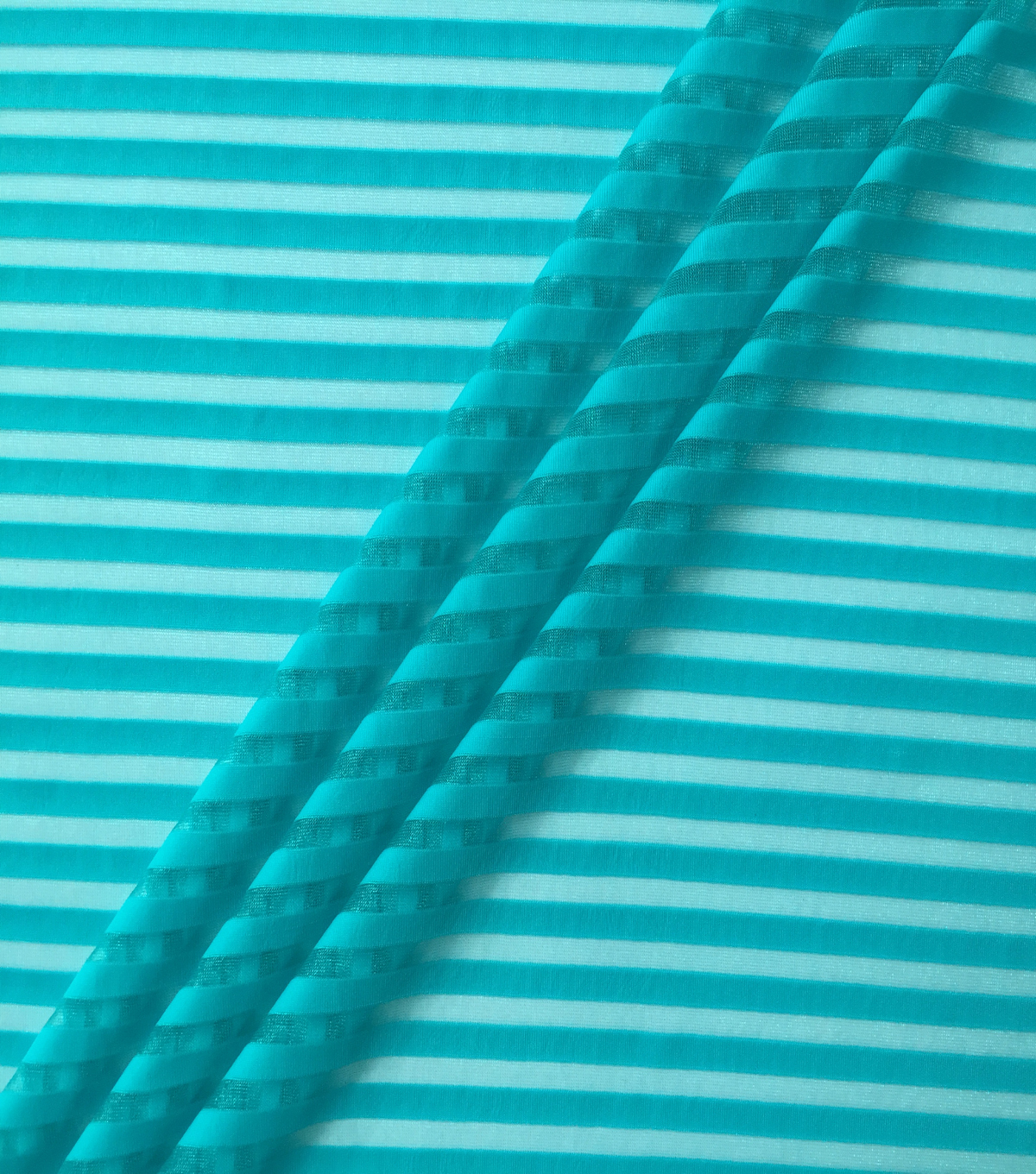 Performance Apparel Fabric-Peacock Blue Shadow Stripe
