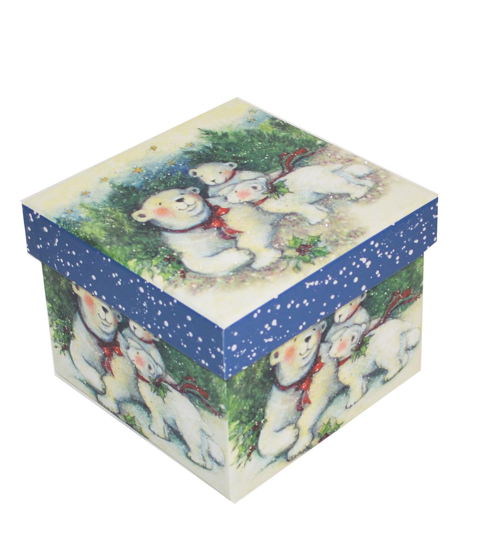 Christmas Small Square Storage Box Polar Bear