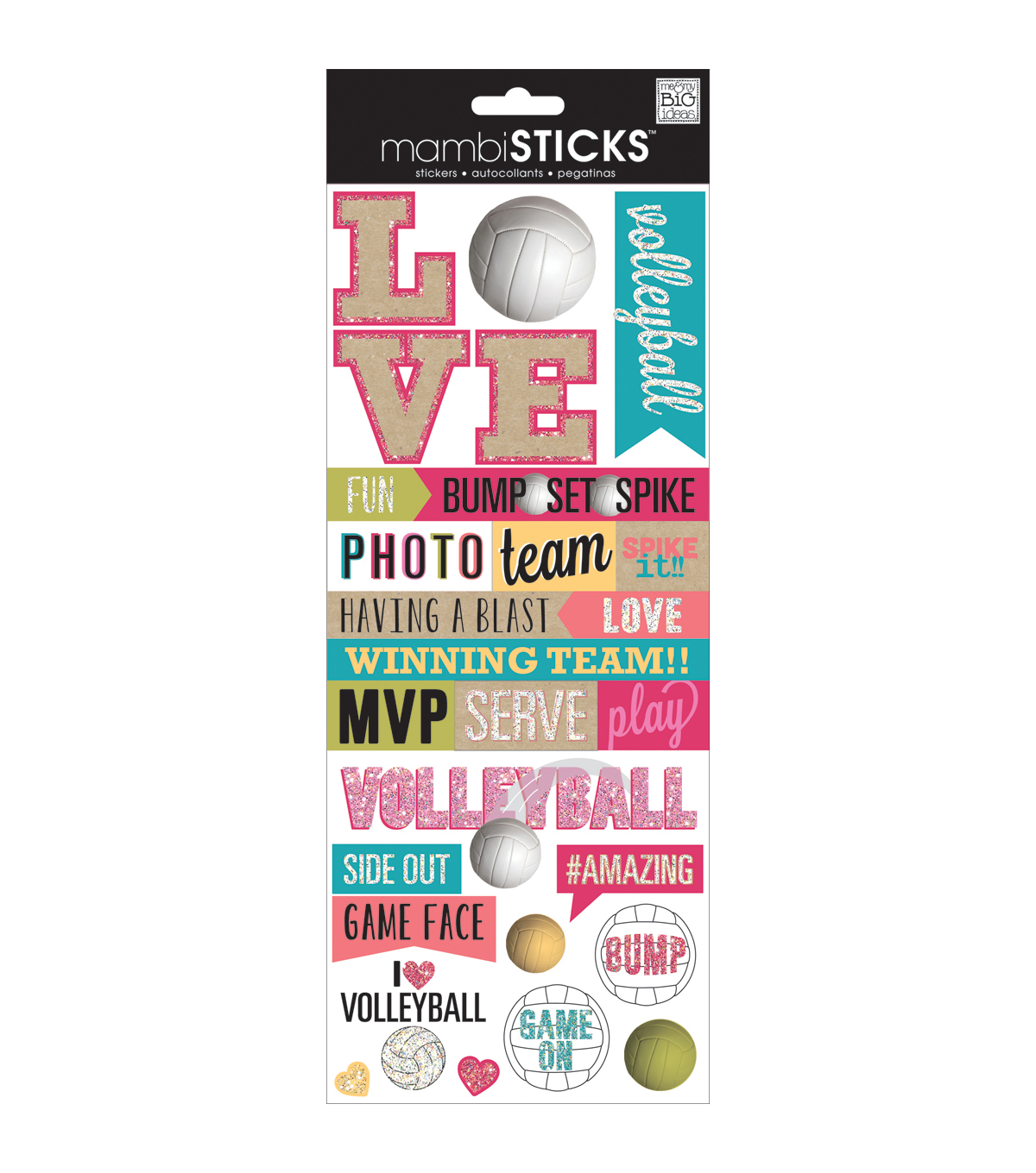 Specialty Stickers-Love Volleyball