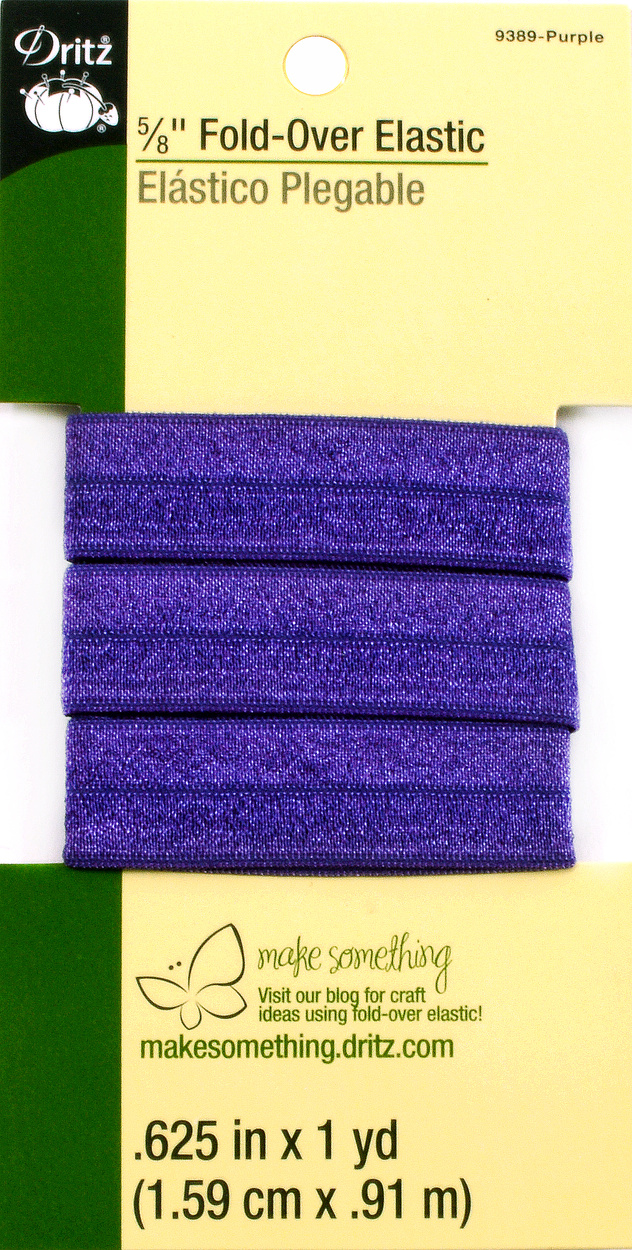 Dritz 5/8\u0022  Fold Over Elastic Purple 1Yd