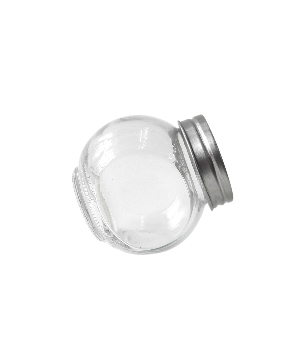 Clear Mini Round Jar with Silver Lid