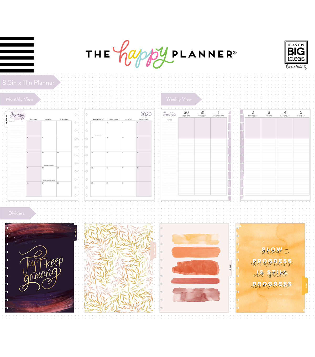 The Happy Planner Big 2020 Dated Planner-Live With Heart