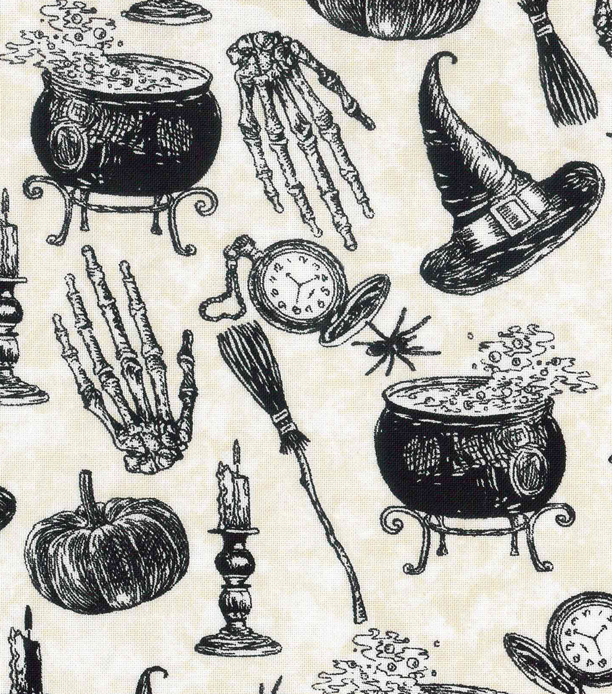 Halloween Cotton Fabric 43\u0022-Witches Spell