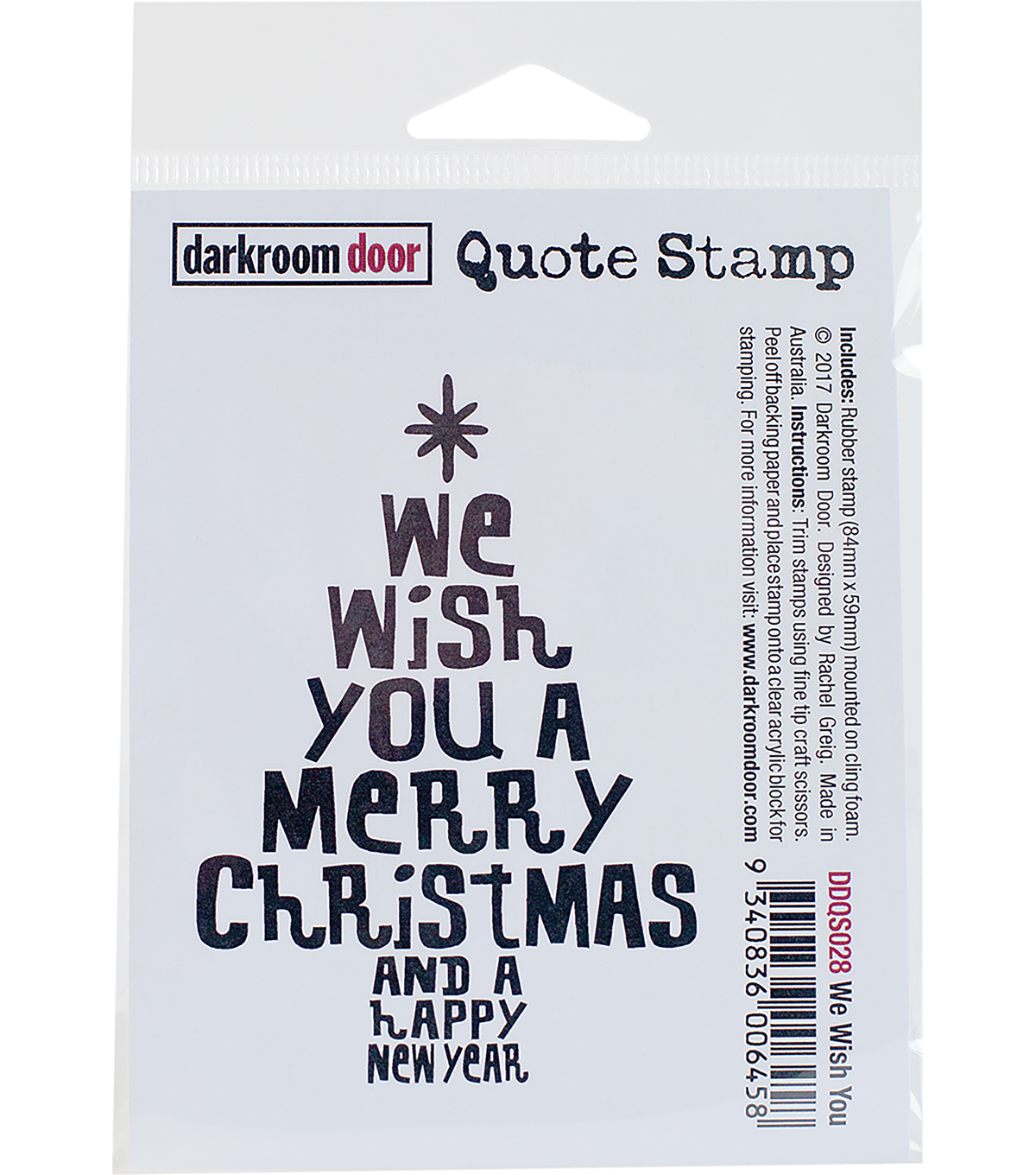 Darkroom Door Quote Cling Stamp 3\u0022x2\u0022-We Wish You