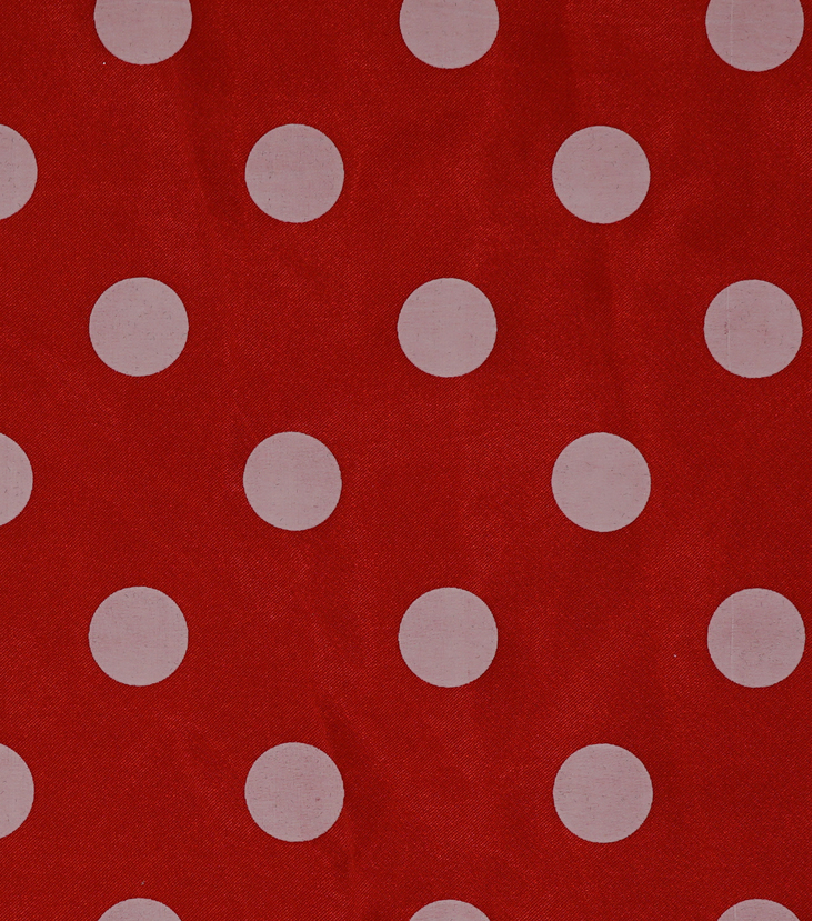 Glitterbug Satin Fabric 56\u0022-Polka Dot Red