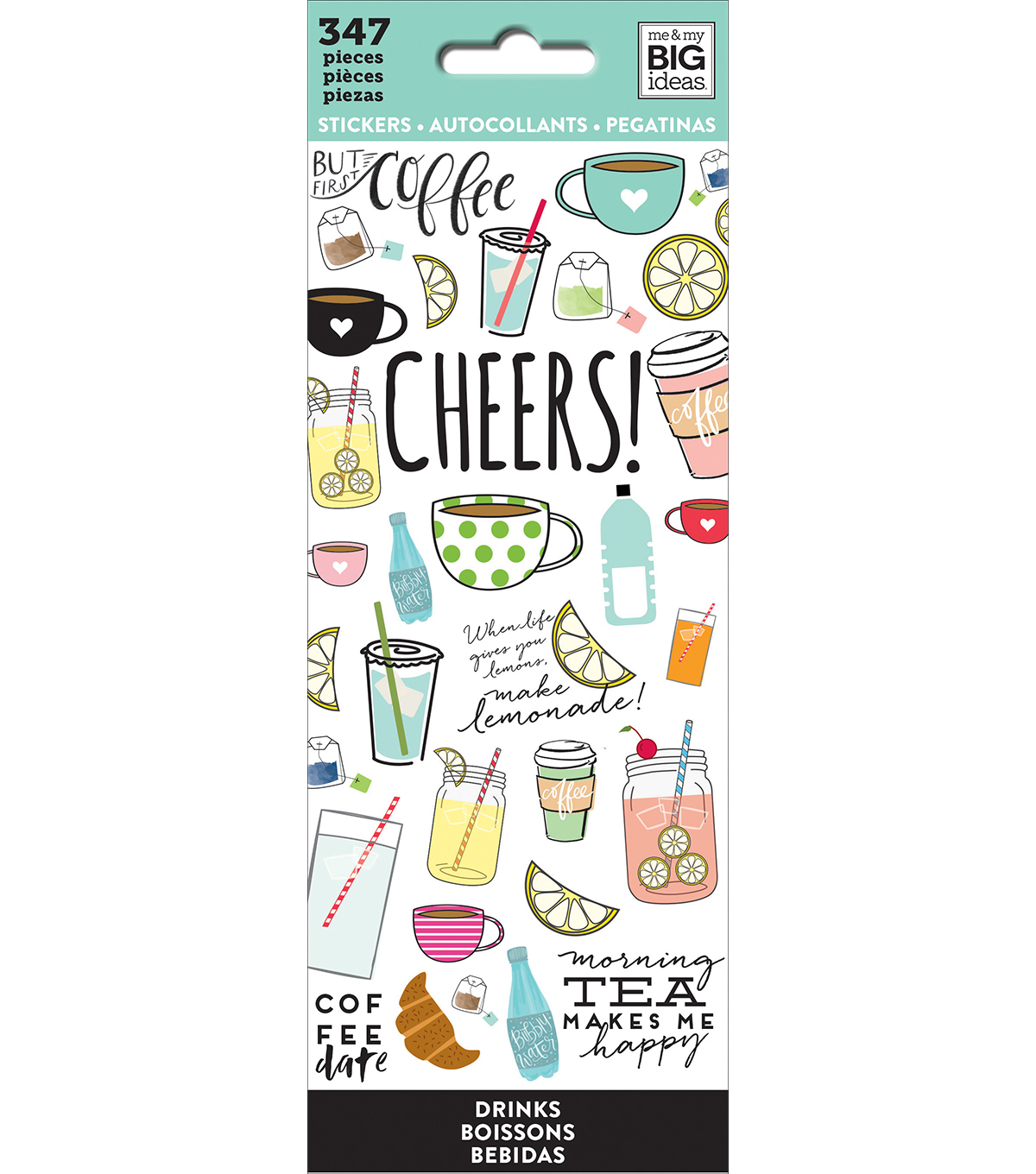 The happy planner stickers drinks