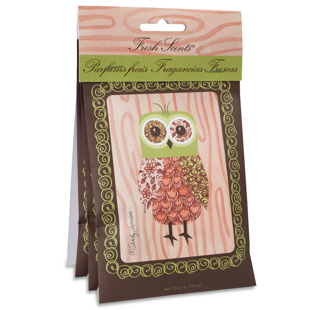 3 Pack Scented Sachet-Pink Owl