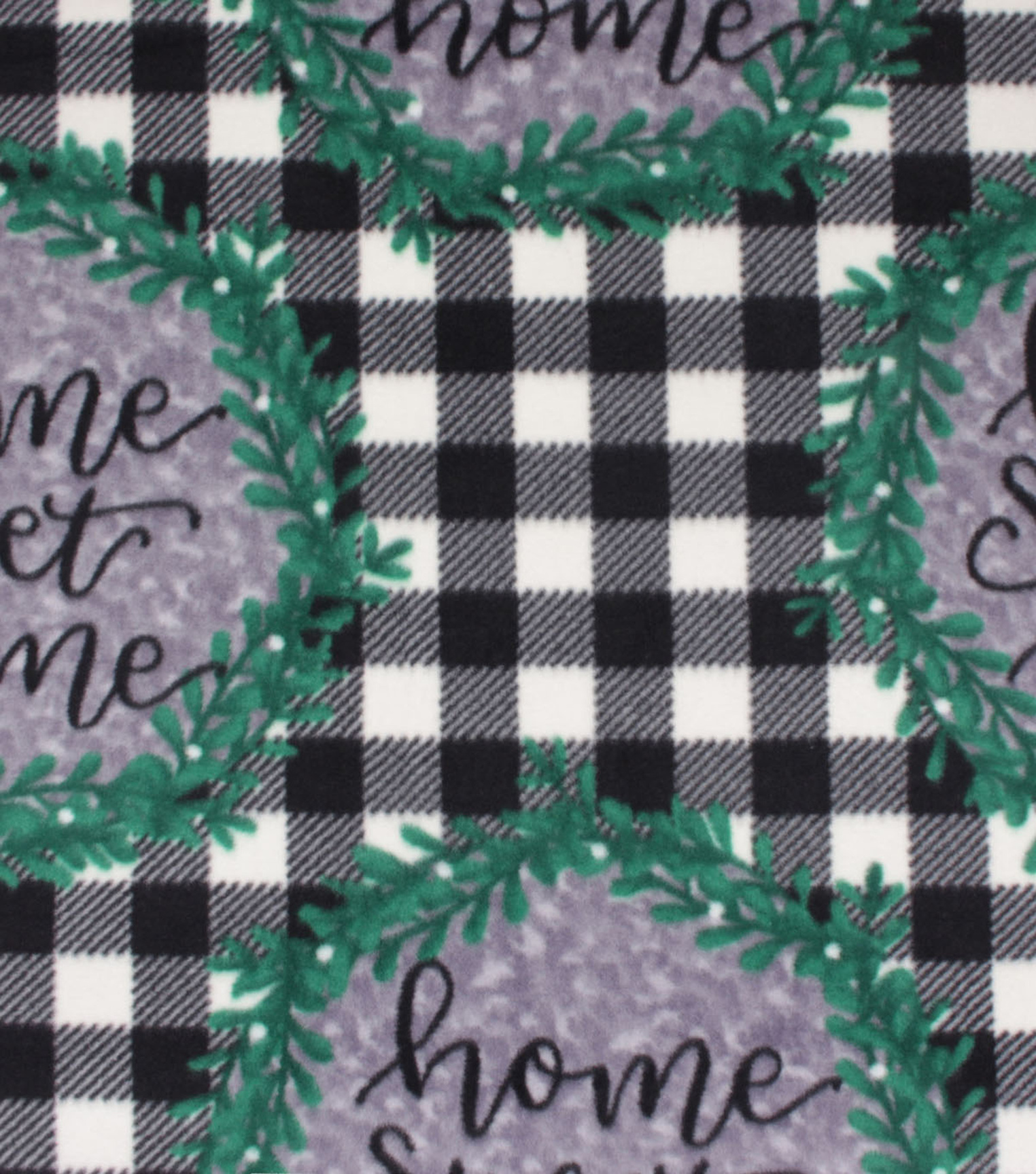Anti-Pill Plush Fleece Fabric-Home Sweet Home