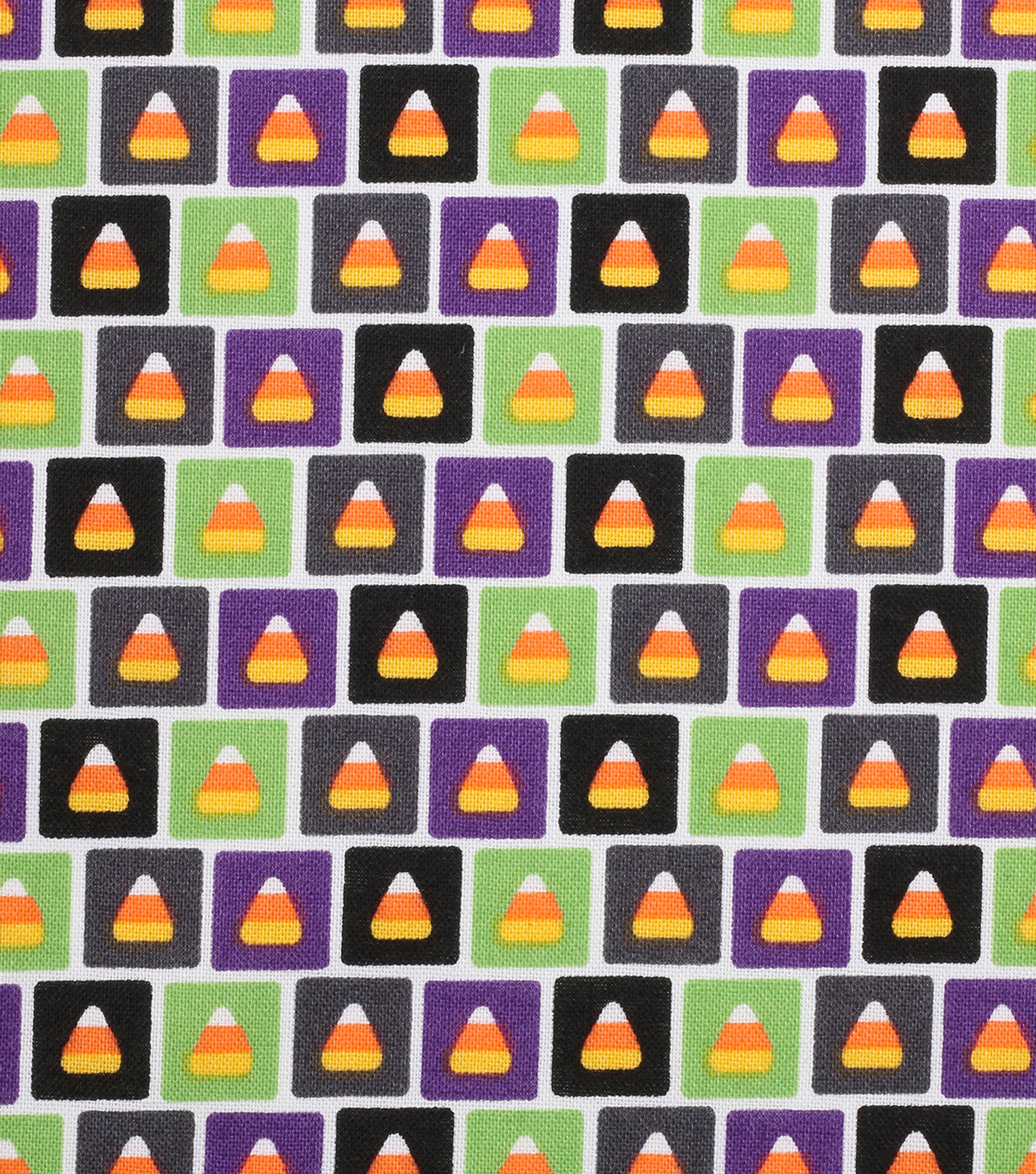 Halloween Cotton Fabric -Candy Corn Rows
