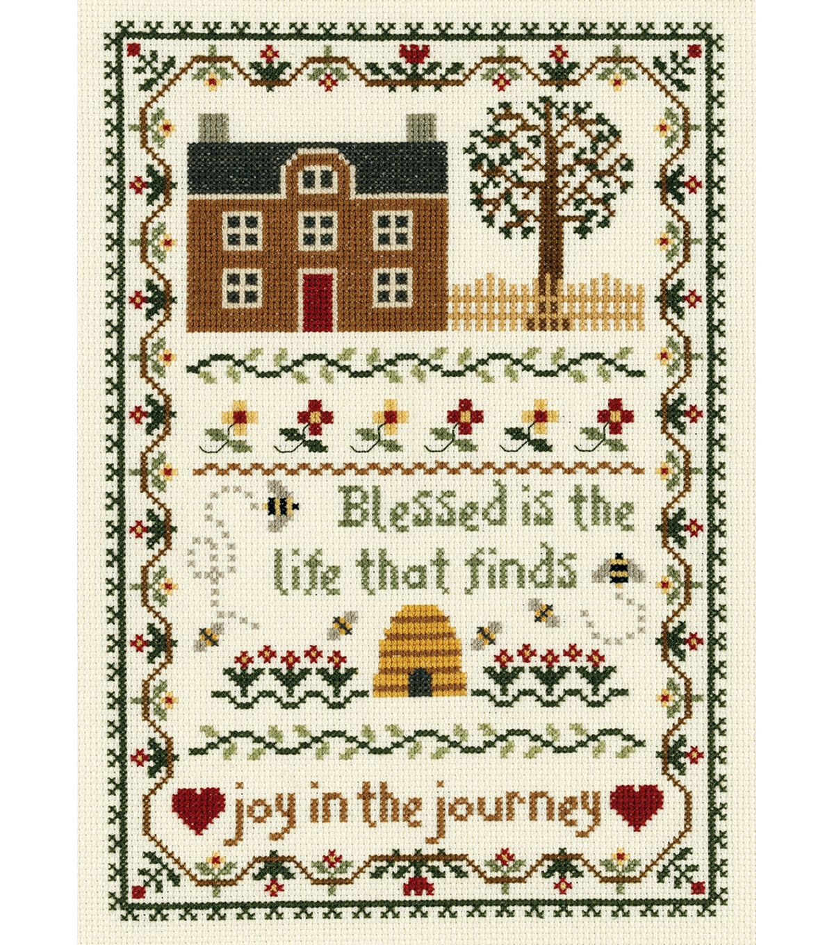 Janlynn Joy In The Journey Counted Cross Stitch Kit