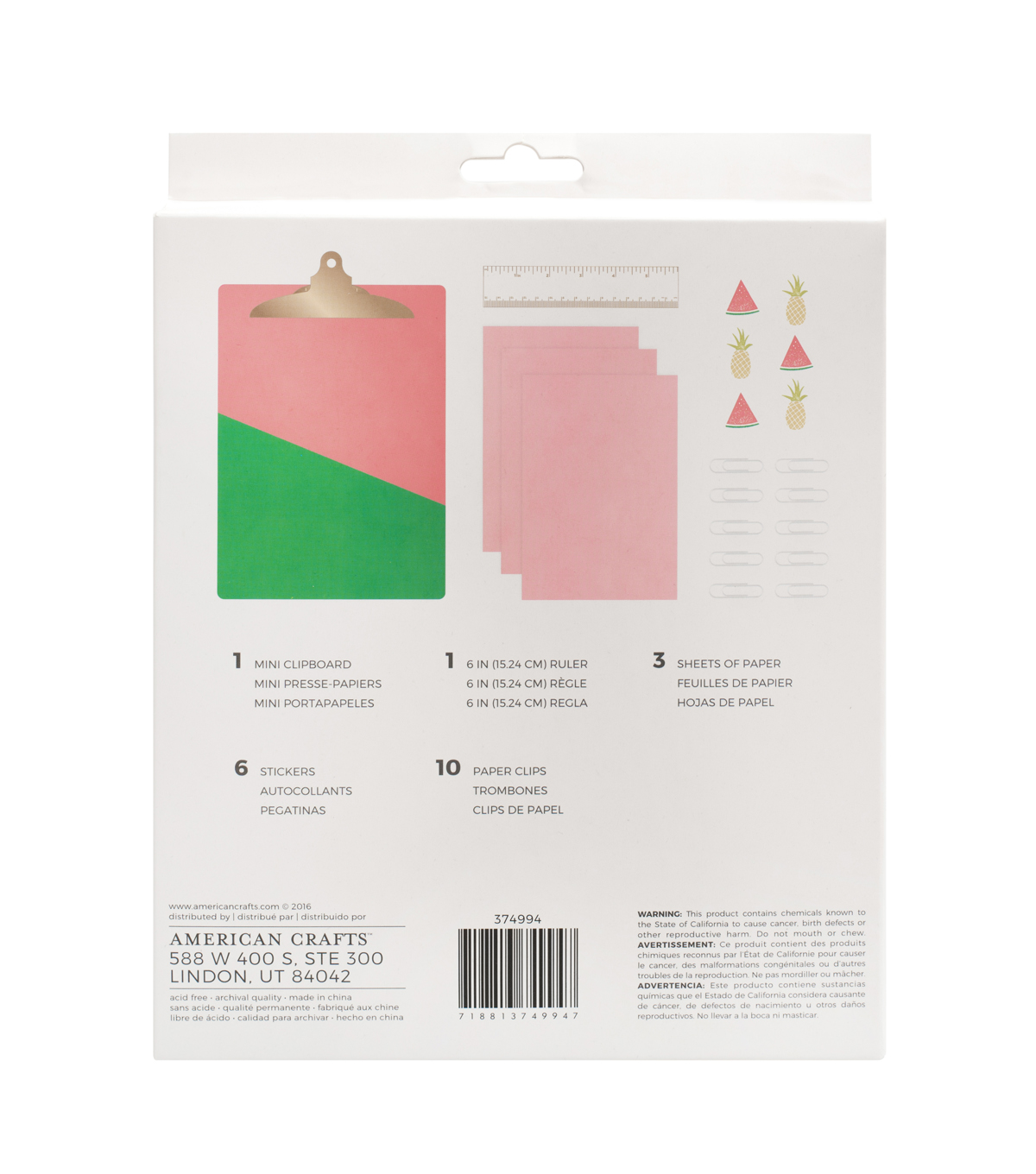 American Crafts Memory Planner Office Kit