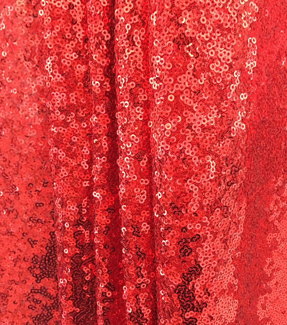 Packed All Over Sequin Fabric 56\u0022-Tango Red