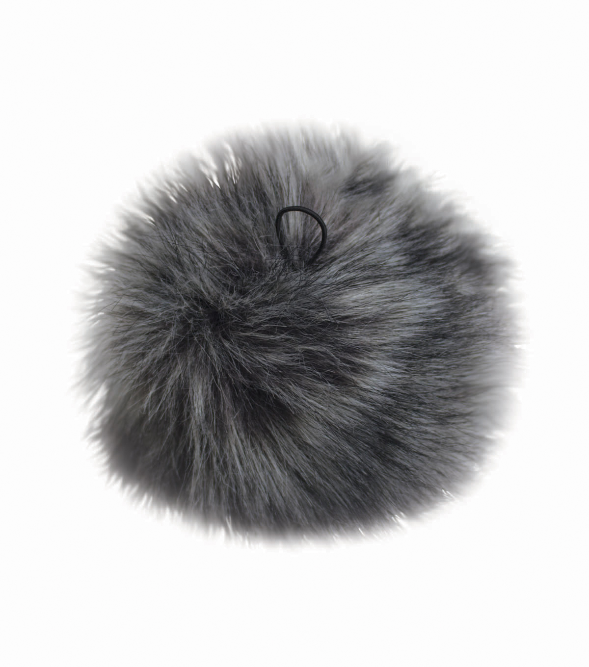 Faux Fur Pom Keychain with Loop 5 u0027 u0027-Gray Wolf df52ff76138e
