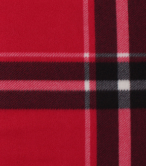 Blizzard Fleece Fabric-Bryce Red & Black Plaid