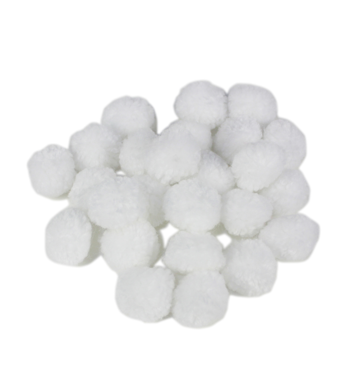 Maker\u0027s Holiday Craft Yarn Pom Poms-White